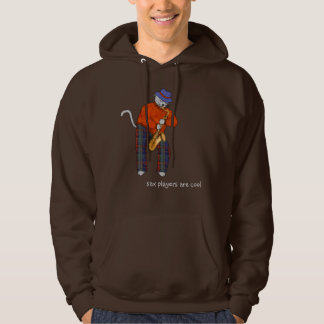 Sax Players Are Cool Cats Hoodie