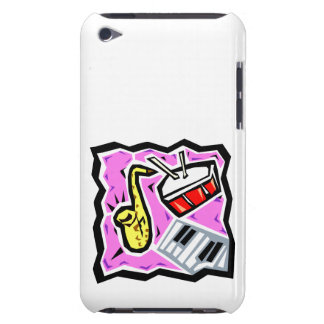 Sax Snare and Keys Pink Background iPod Touch Case