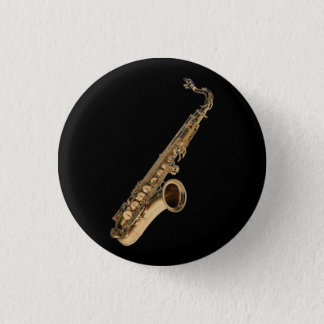 Sax Tenor 3 Cm Round Badge