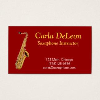 Saxaphone Business Card