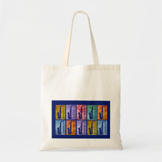 Saxaphone Windows Tote Bag
