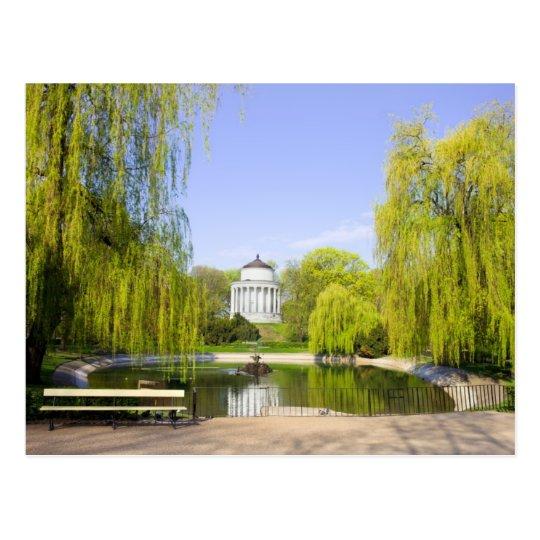 Saxon Garden in Warsaw Postcard