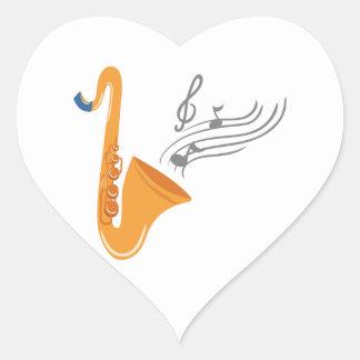 Saxophon saxophone sax heart sticker