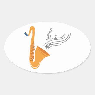 Saxophon saxophone sax oval sticker