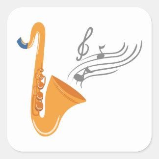 Saxophon saxophone sax square sticker