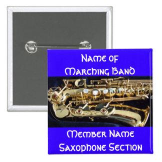 Saxophone 15 Cm Square Badge