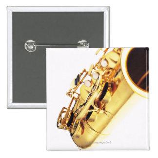 Saxophone 2 15 cm square badge