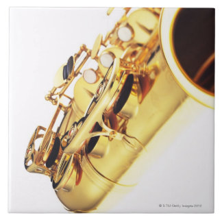 Saxophone 2 ceramic tile