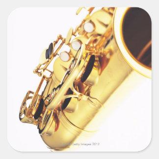 Saxophone 2 square sticker