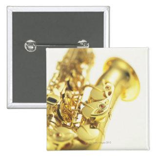 Saxophone 3 15 cm square badge