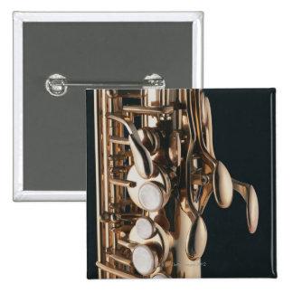 Saxophone 5 15 cm square badge