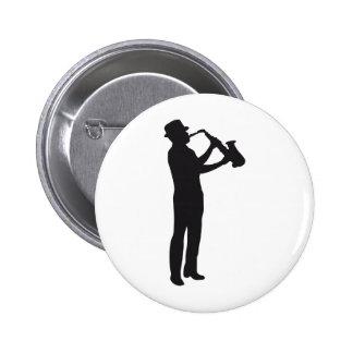 saxophone 6 cm round badge