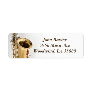 Saxophone address label