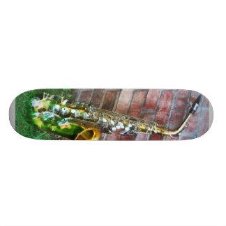 Saxophone Against Brick Custom Skateboard