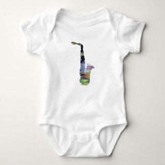 Saxophone Art Baby Bodysuit