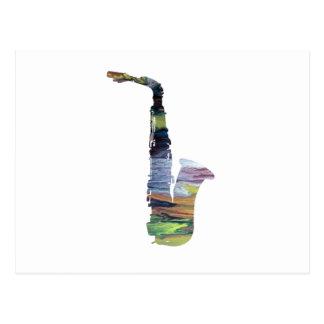 Saxophone Art Postcard