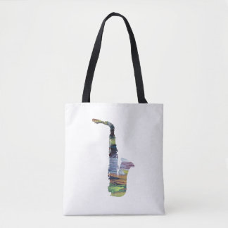 Saxophone Art Tote Bag