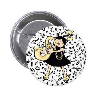Saxophone Baby 6 Cm Round Badge