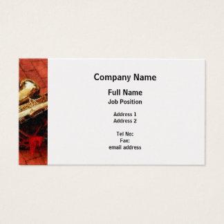 Saxophone Before Parade - Platinum Finish Business Card