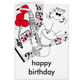 Saxophone Birthday Card