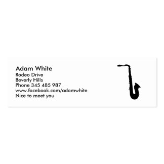 Saxophone Business Card Template