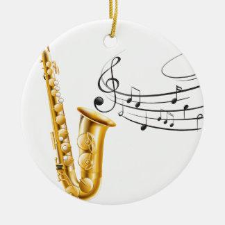 Saxophone Ceramic Ornament
