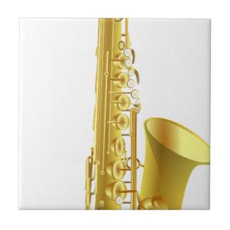 Saxophone Ceramic Tile