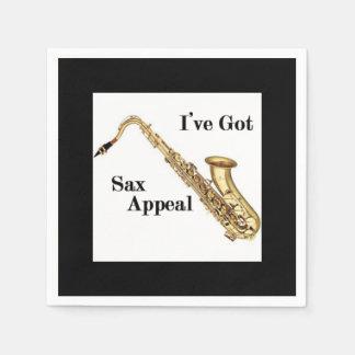 Saxophone Cocktail Napkins Paper Serviettes