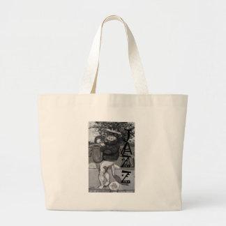 Saxophone Cow Jumbo Tote Bag