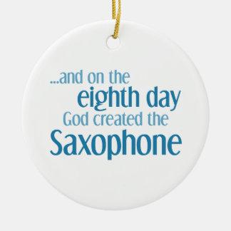 Saxophone Creation Ceramic Ornament