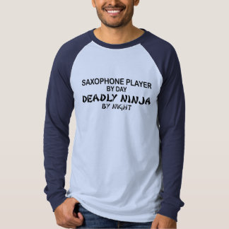 Saxophone Deadly Ninja by Night Tee Shirt