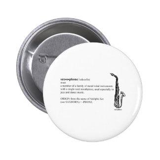 Saxophone Definition 6 Cm Round Badge