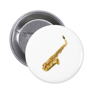 """Saxophone"" design gifts and products 6 Cm Round Badge"