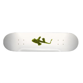 Saxophone design, green version 19.7 cm skateboard deck