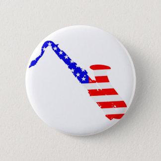 Saxophone Flag Background 6 Cm Round Badge