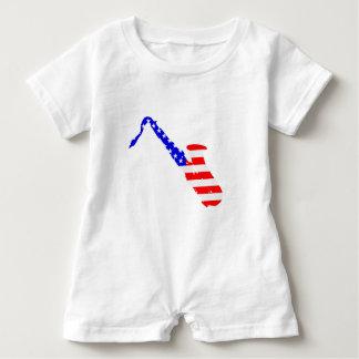 Saxophone Flag Background Baby Bodysuit