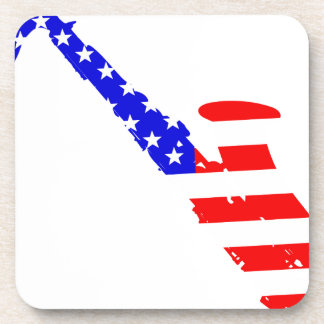 Saxophone Flag Background Coaster