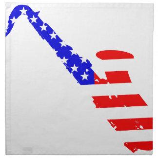 Saxophone Flag Background Napkin