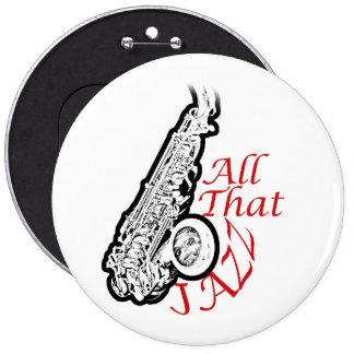 Saxophone Jazz Musician Band Button