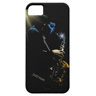 Saxophone Jazz Player Art Design Barely There iPhone 5 Case
