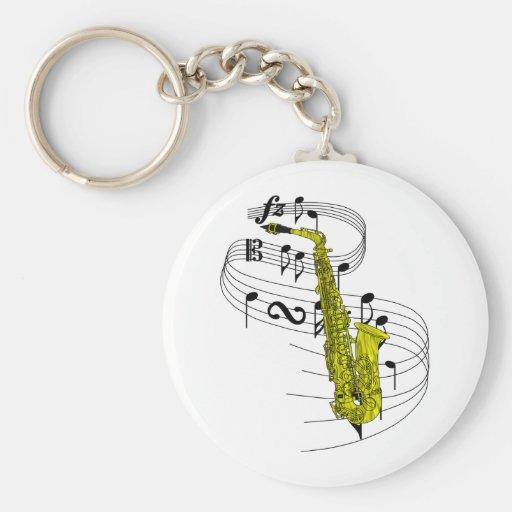 Saxophone Key Chain