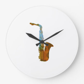 Saxophone Large Clock
