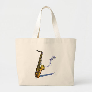 Saxophone Large Tote Bag