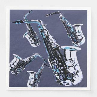 Saxophone Mania Disposable Serviettes