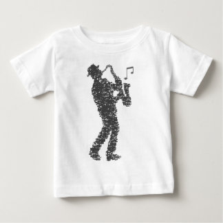 Saxophone more player built with notes baby T-Shirt