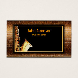 Saxophone Music Gentleman Club Card