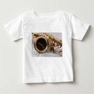Saxophone Music Gold Gloss Notenblatt Keys Baby T-Shirt
