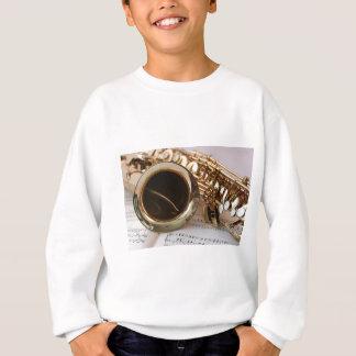 Saxophone Music Gold Gloss Notenblatt Keys Sweatshirt