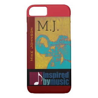 saxophone music inspired graphic iPhone 7 case