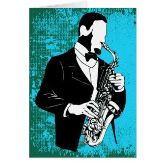 Saxophone Music Notecard Cards